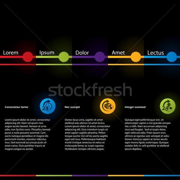 Simplistic design web template Stock photo © vipervxw