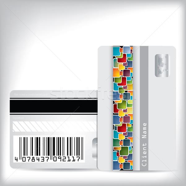 Multicolor dotted loyalty card design Stock photo © vipervxw