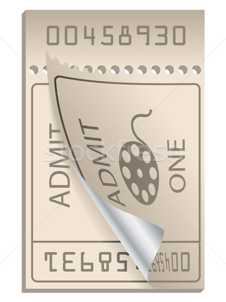 Cinema ticket ripped from pack Stock photo © vipervxw