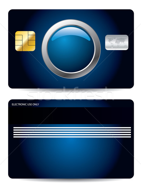 Cool credit card design with button  Stock photo © vipervxw