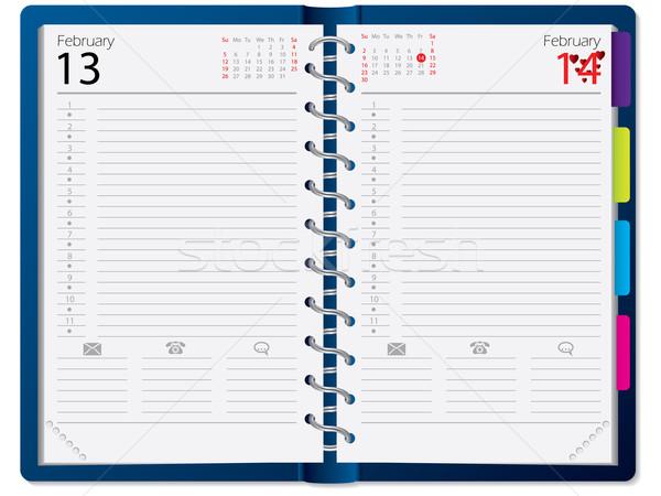 Notebook design with calendar  Stock photo © vipervxw