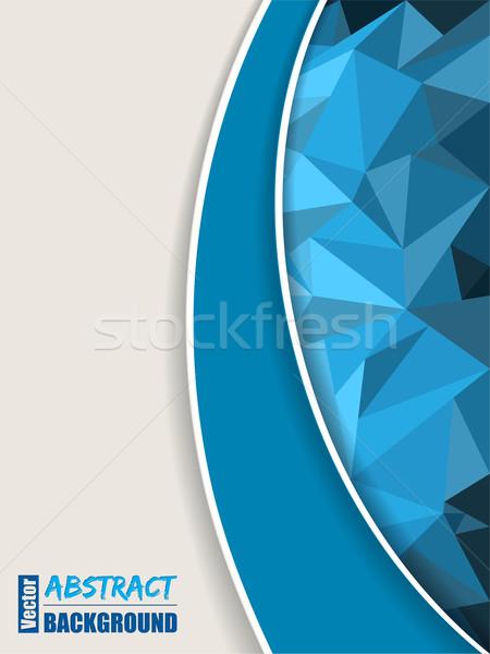 Soyut mavi broşür şerit dizayn ışık Stok fotoğraf © vipervxw