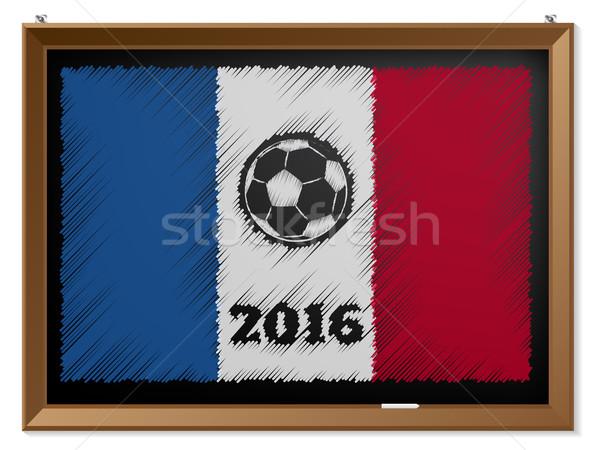 Франция флаг доске футбола фон Сток-фото © vipervxw