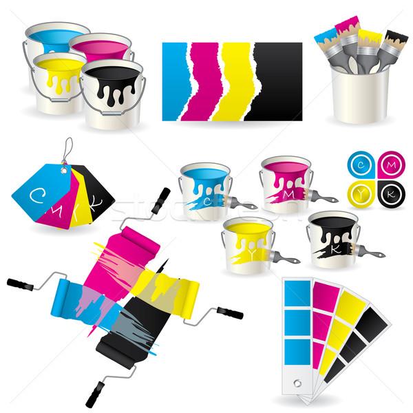 набор новых восемь иконки цвета инструментом Сток-фото © vipervxw