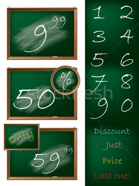 Blackboard theme shopping label set  Stock photo © vipervxw