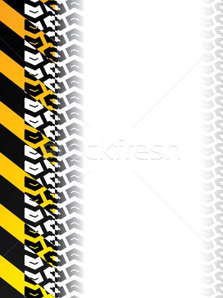 Hazard background with tire track  Stock photo © vipervxw