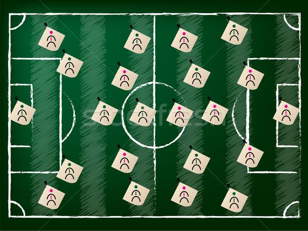 Terrain de football illustration équipes équipe herbe football Photo stock © vipervxw