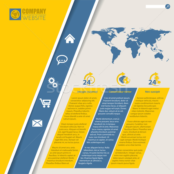 Nobel Website Vorlage Design Weltkarte lebendig Stock foto © vipervxw
