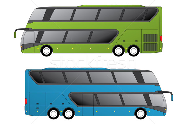 Double decker coaches Stock photo © vipervxw