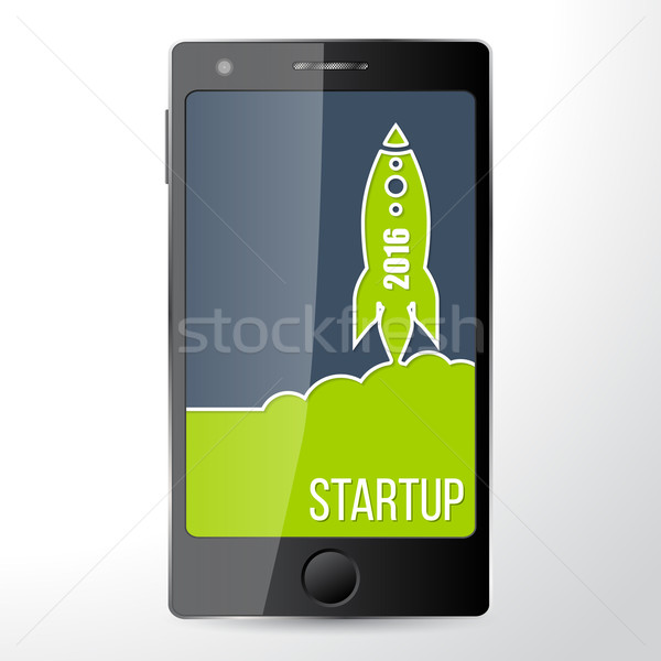 Mobile start up app Stock photo © vipervxw