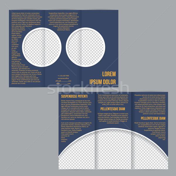 Сток-фото: Flyer · брошюра · фото · шаблон · дизайна · бизнеса