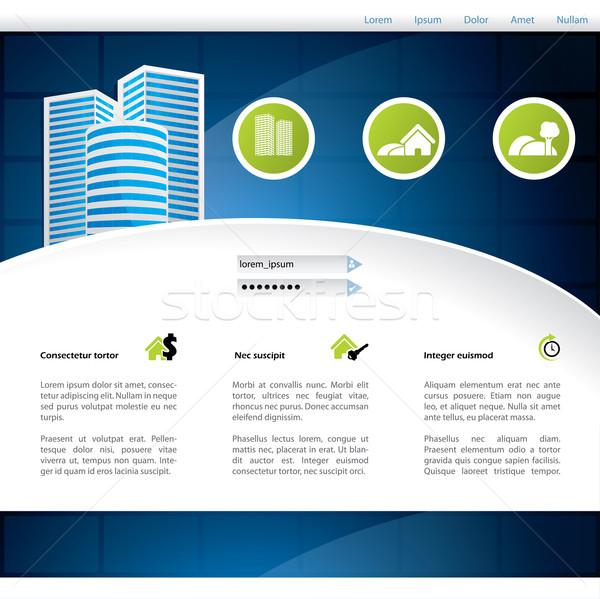 Home progettazione di siti web pubblicità business faccia Foto d'archivio © vipervxw