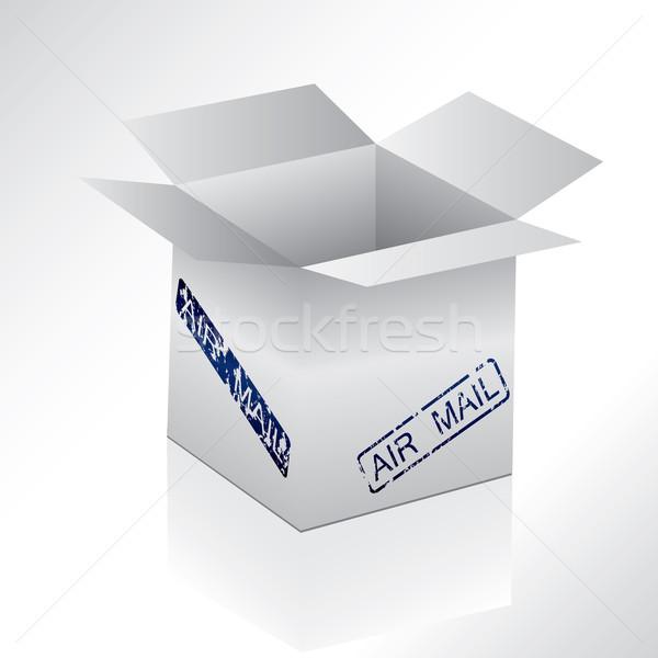 Gri kutu hava posta mühürlemek dizayn Stok fotoğraf © vipervxw