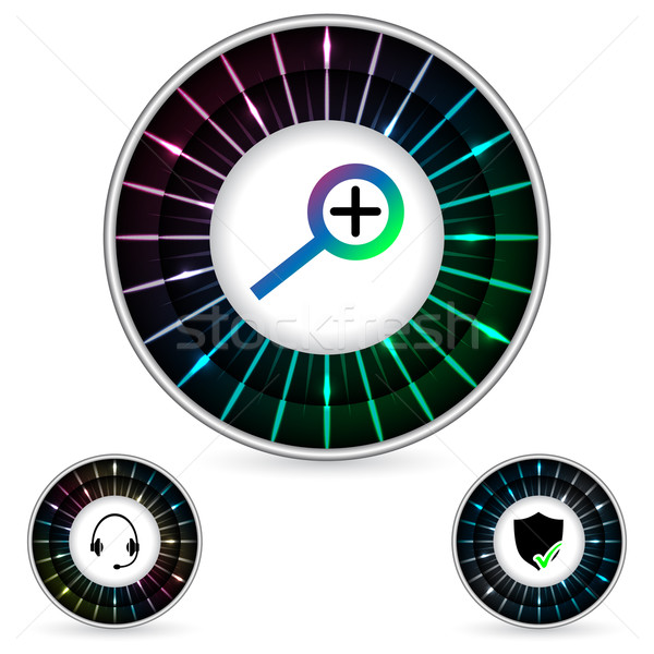 Streszczenie przycisk projektu osoczu efekt tęczówki Zdjęcia stock © vipervxw