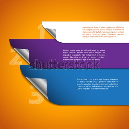 Iinfographic with scribbled numbers Stock photo © vipervxw
