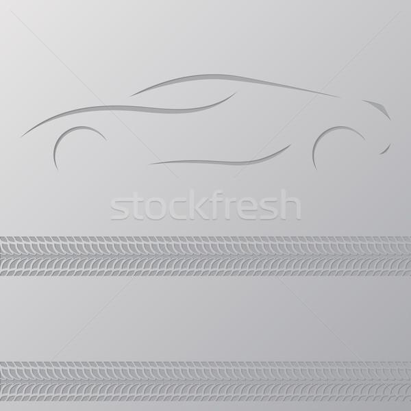 Araba Filmi duvar kağıdı dizayn yer metin Stok fotoğraf © vipervxw