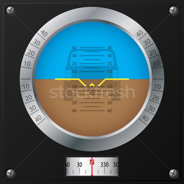 Attitude indicator design Stock photo © vipervxw