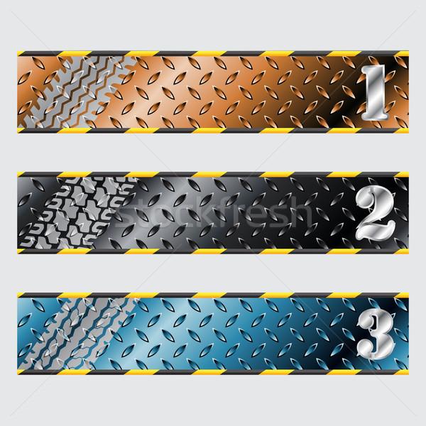 Industrial plate label design set Stock photo © vipervxw