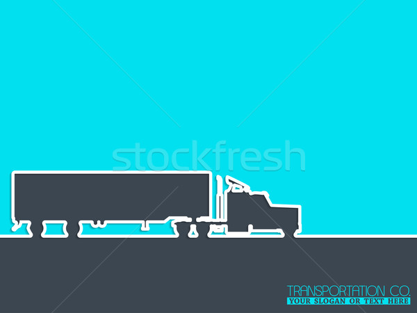 Transportation company advertising background Stock photo © vipervxw