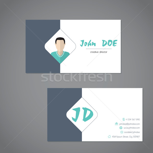Modern business card with simplistic presentation Stock photo © vipervxw