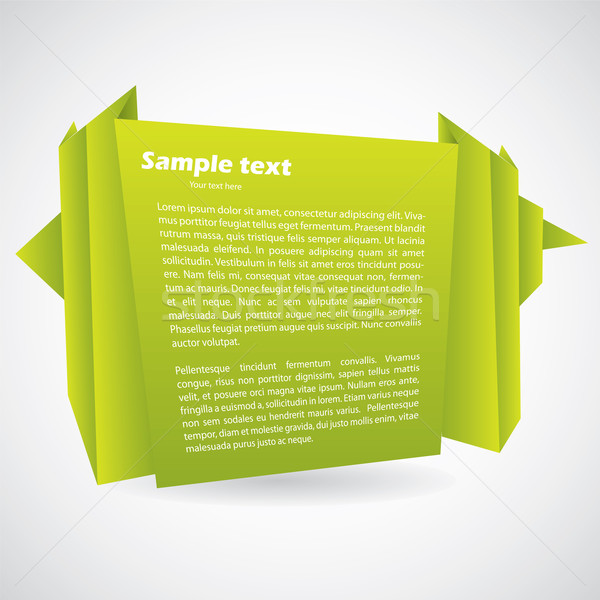 Yeşil origami soyut dizayn gölge sanat Stok fotoğraf © vipervxw