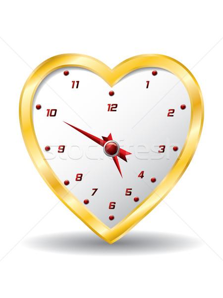 Heart clock  Stock photo © vipervxw