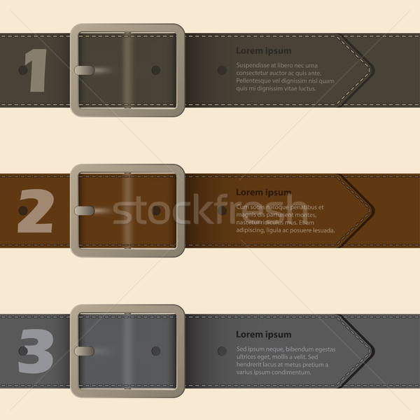 Belt buckle infographic design Stock photo © vipervxw