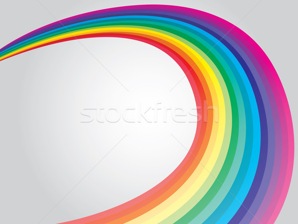 Curling rainbow  Stock photo © vipervxw