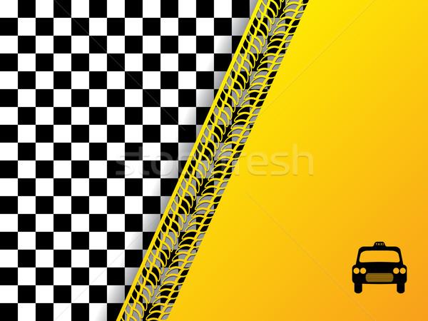 Checkered background design with tire tread Stock photo © vipervxw