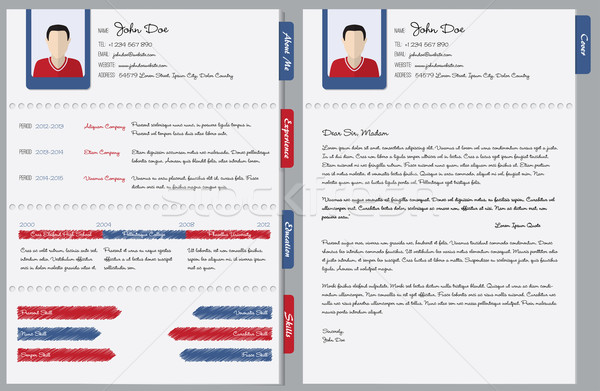 Hand written cv with cover letter Stock photo © vipervxw