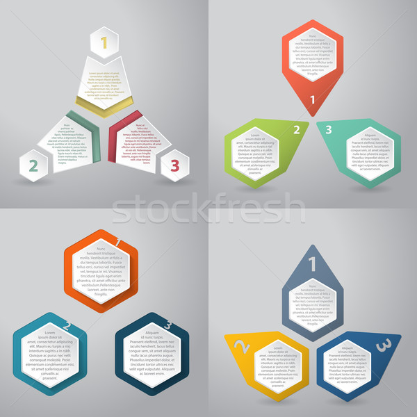 Abstract infographics background with hexagon elements Stock photo © vipervxw