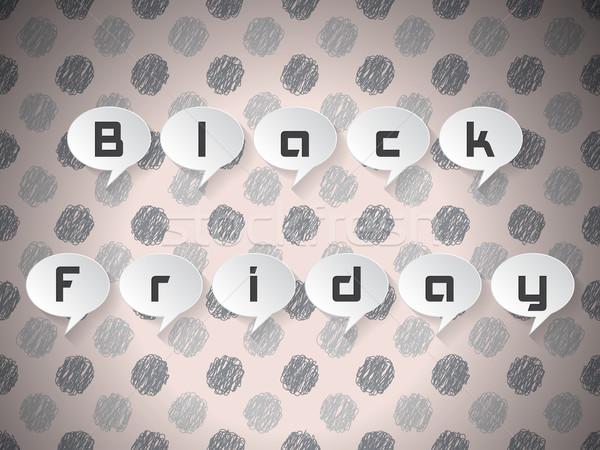 черная пятница текста бизнеса дизайна фон Сток-фото © vipervxw