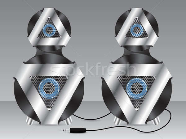 Speakers with metal and plastic elements Stock photo © vipervxw