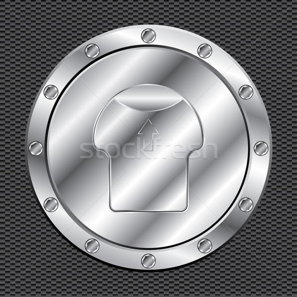 Shiny aluminum fuel cap Stock photo © vipervxw