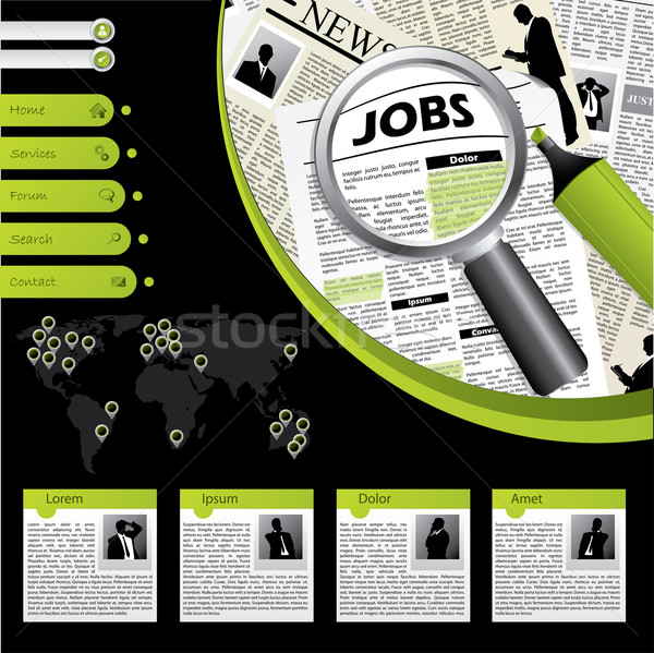 Job searching website template  Stock photo © vipervxw