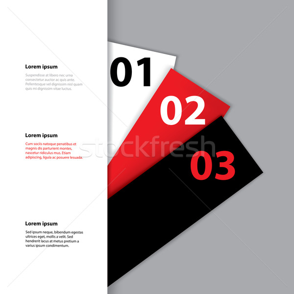 Etiketler gizlenmiş üç arkasında beyaz Stok fotoğraf © vipervxw