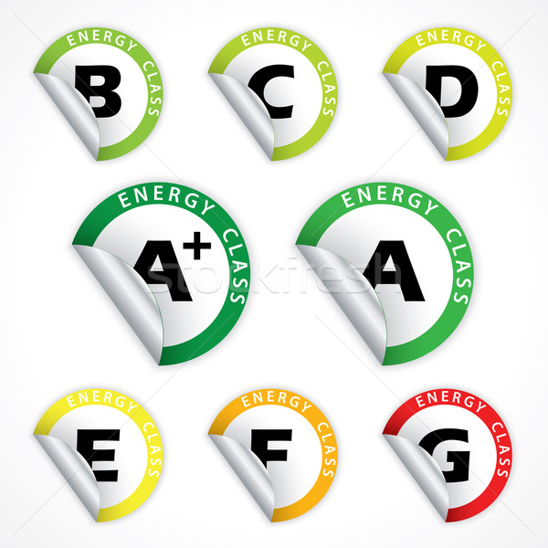 Energy class stickers from A+ to G Stock photo © vipervxw