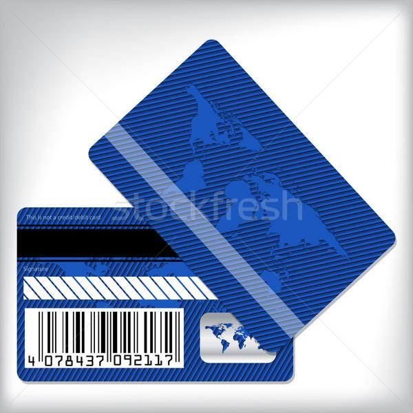 Niebieski lojalność pasiasty mapie świata Pokaż Zdjęcia stock © vipervxw