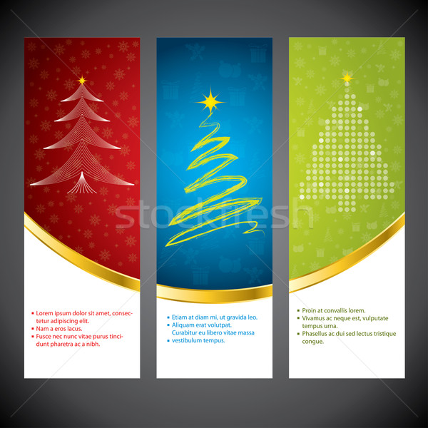 Christmas banner zestaw czasu różny kolory Zdjęcia stock © vipervxw