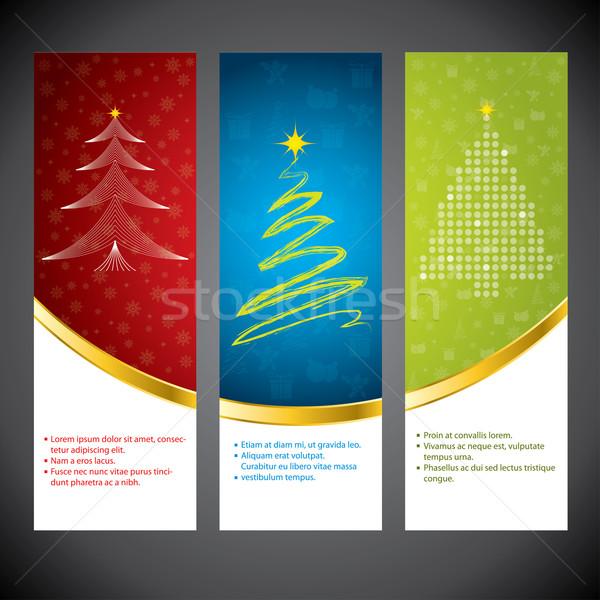 Noël bannière temps couleurs Photo stock © vipervxw