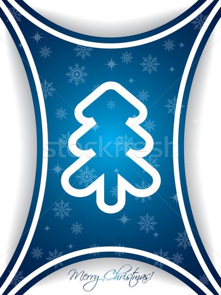 Blue christmas greeting card design Stock photo © vipervxw