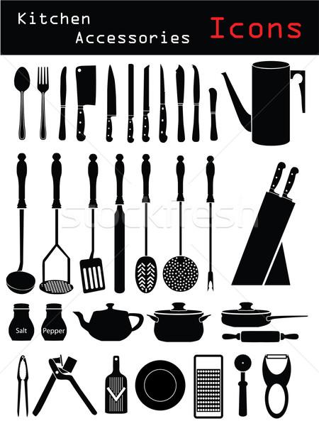 Сток-фото: кухне · различный · черный · цвета