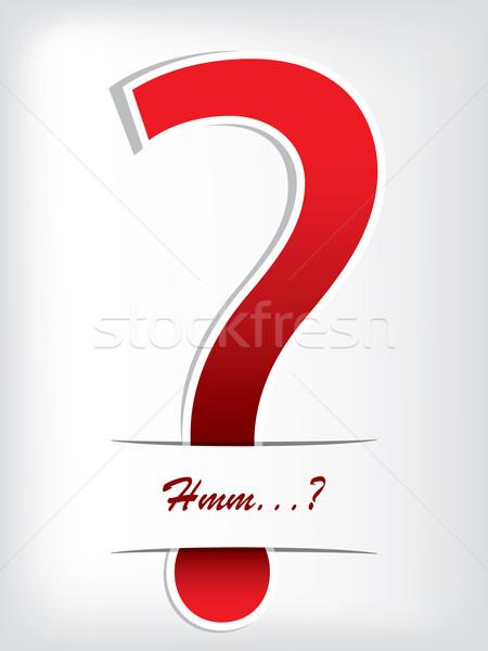 Сток-фото: вопросительный · знак · брошюра · дизайна · красный · текста · аннотация