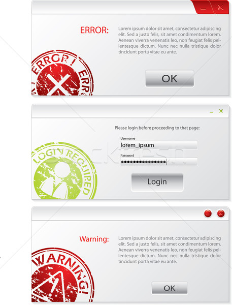 System alert window designs Stock photo © vipervxw