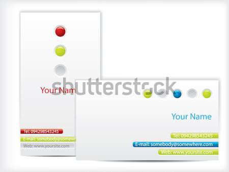 Business card design with led effect  Stock photo © vipervxw