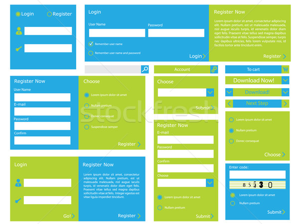Web form with flat design Stock photo © vipervxw