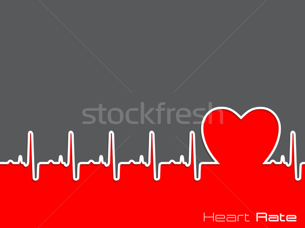 Medical background with ekg diagram Stock photo © vipervxw