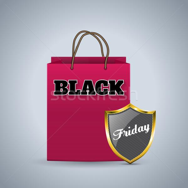 черная пятница реклама корзина щит дизайна розовый Сток-фото © vipervxw