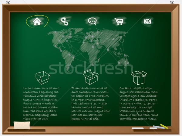 Website design template drawn on chalkboard  Stock photo © vipervxw