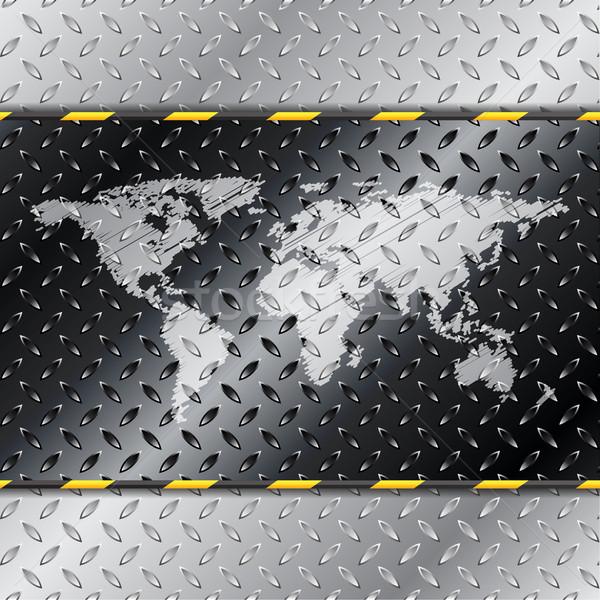Absztrakt ipari térkép terv textúra világ Stock fotó © vipervxw